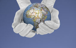 The world in his hands Stock Photography