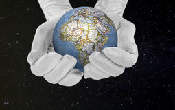 The world in his hands Royalty Free Stock Photos