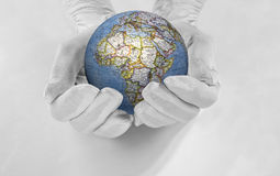 The world in his hands Stock Photos