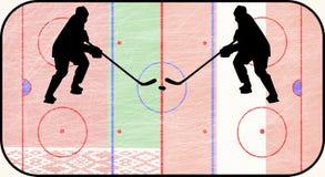 World hockey championship belarus vs austria Royalty Free Stock Photography
