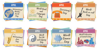 World holidays. April Royalty Free Stock Images