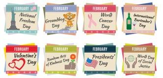 World holidays. February Stock Photography