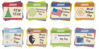 World holidays. January Stock Images