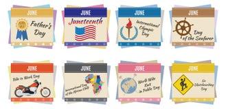 World holidays. June Stock Photography