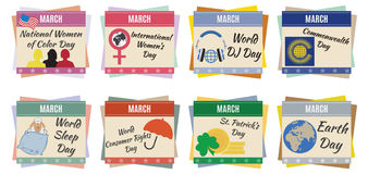 World holidays. March Royalty Free Stock Photo