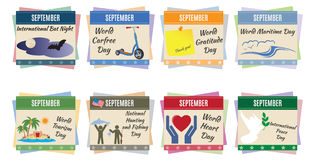 World holidays. September Stock Photography