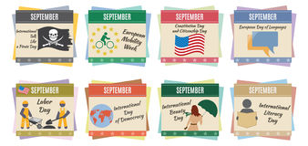 World holidays. September Stock Photos