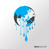 World hot and melt graphic vector. Stock Images