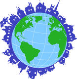 World with houses Royalty Free Stock Images