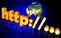 World and http Royalty Free Stock Image