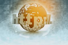 World and http. Global internet technology Royalty Free Stock Image