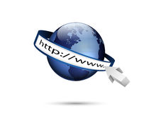 World and http://www, Global internet technology Royalty Free Stock Photography