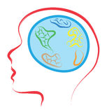 World human brain Royalty Free Stock Photography