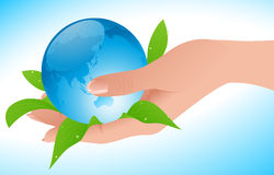 World in  human hand Royalty Free Stock Photography