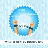 World human rights day concept background, flat style royalty free illustration
