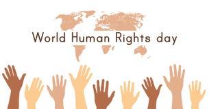 World Human rights day. 10 December. Hands up. Vector illustration vector illustration