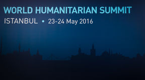 World Humanitarian Summit, Istanbul, Turkey, 2016 Royalty Free Stock Images