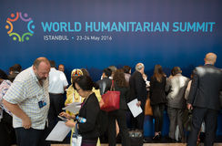 World Humanitarian Summit, Istanbul, Turkey, 2016 Stock Images