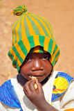 World hunger. Picture of a children in a little village in Borkina Faso, Africa Stock Images