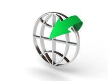 World icon and arrow Royalty Free Stock Photos