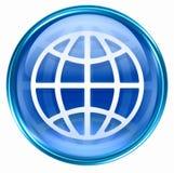 World icon blue Stock Image