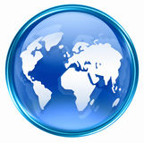 World icon blue Stock Photography