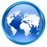 World icon blue Stock Photography