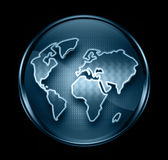 World icon dark blue Stock Photography