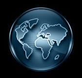 World icon dark blue. Royalty Free Stock Images