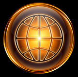 World icon gold Stock Photography