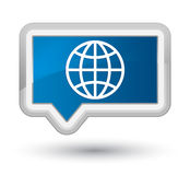 World icon prime blue banner button Stock Photos