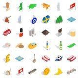 World icons set, isometric style Royalty Free Stock Photography