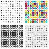 100 world icons set vector variant. 100 world icons set vector in 4 variant for any web design isolated on white Stock Photos