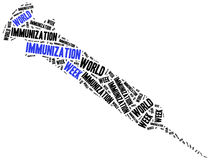 World immunization week. Healthcare concept. Word cloud illustration Royalty Free Stock Photography