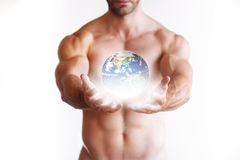 World In His Hands Stock Image
