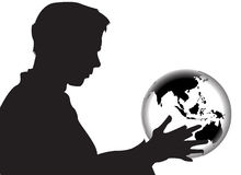 World In My Hands Royalty Free Stock Photography