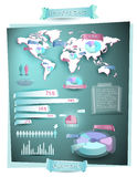 World info graphic Royalty Free Stock Image