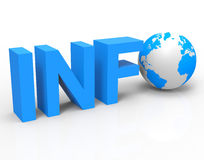 World Info Shows Knowledge Globalisation And Information Royalty Free Stock Photo