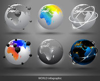 World infographic Stock Images