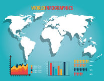 World infographic design. Stock Photography