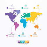 World Infographic Template jigsaw concept banner. vector. Royalty Free Stock Photo
