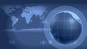 World Infographics Interface stock video
