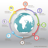 World infographics Royalty Free Stock Images