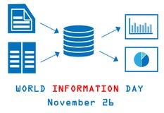 World information day, November 26 Royalty Free Stock Image