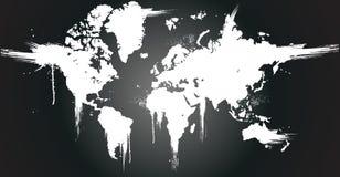 World ink splatter royalty free illustration