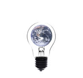 World inside light blub, Elements of this image furnished by NAS Royalty Free Stock Photography