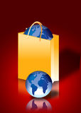 World inside a shopping bag Royalty Free Stock Images