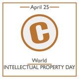 World Intellectual Property Day, April 25 Stock Photo
