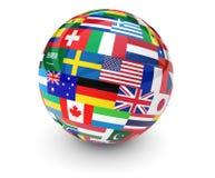 World International Business Globe vector illustration
