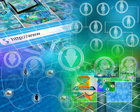 World of internet Stock Images